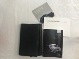 Jaguar S type car owner handbook and wallet