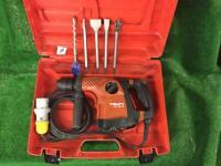 Hilti TE 30C Hammer Drill / Light Breaker 110v Plus New Chisels
