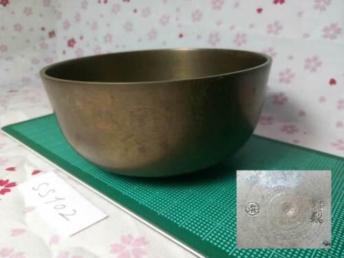 "Marked SAHARI 4.213"" Japanese Buddhist Bell SS102 Long and Short Wavelengths"