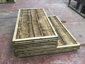 Waneylap fence panels 8mm boards pressure treated green