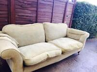 Sofa in pale olive green -free