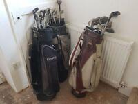 Joblot Golf Clubs & Bags ( 54 Clubs, 3 Bags - Adidas, Maxfly, Memphis )