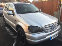 mercedes benz ML 270 cdi automatic breaking all parts SILVER