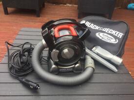 Vacuum Cleaner, BLACK & DECKER, PLUGS INTO CAR CIGGARETTE LIGHTER (never used)