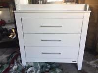 Mamas & Papas white Coastline dresser / changing table