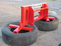 Silage Pusher, 3point linkage, teleporter brackets