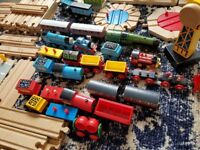 Wooden train tracks. Huge bundle. Mix of brio, bigjigs and melissa & doug