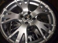 """four 17"""" Diamond alloy wheels"""