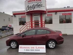 2013 Honda Civic LX CERTIFIE HONDA
