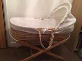 Much loved Moses basket and stand