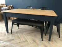 Vintage Pine Shabby Chic Dining Table