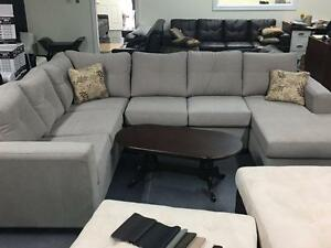 HOLIDAY SPECIALS ON NOW CANADIAN MADE U SHAPE SECTIONAL ANY COLORS $1399 FABRIC OR AIR LEATHER