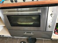 Wide double oven with grill Hotpoint