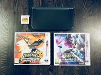 Nintendo 3DS XL Black with Pokemon Ultra Sun & Ultra Moon AND Super Mario Bros 2