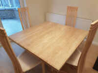 BEAUTIFUL!!! GRANITE DINING ROOM TABLE AND 4 CHAIRS