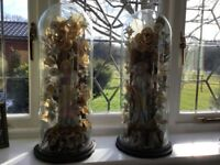 Victorian figurines under an original glass dome