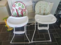 2 highchairs.