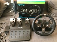 Logitech G920 Driving Force Racing Wheel and Pedals for Xbox One and PC - Excellent Condition