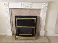 Fire surround and marble back