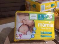 5x newborn nappies