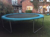 12Ft Trampoline, comes with steps & Poles for a safety net
