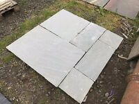 Natural stone paving or tiles