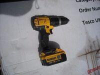 Dewalt combi drill hammer action £85