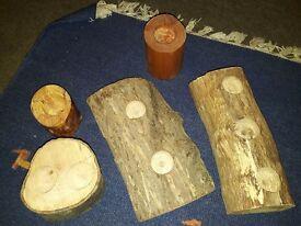 Wooden indoor / outdoor candle holders