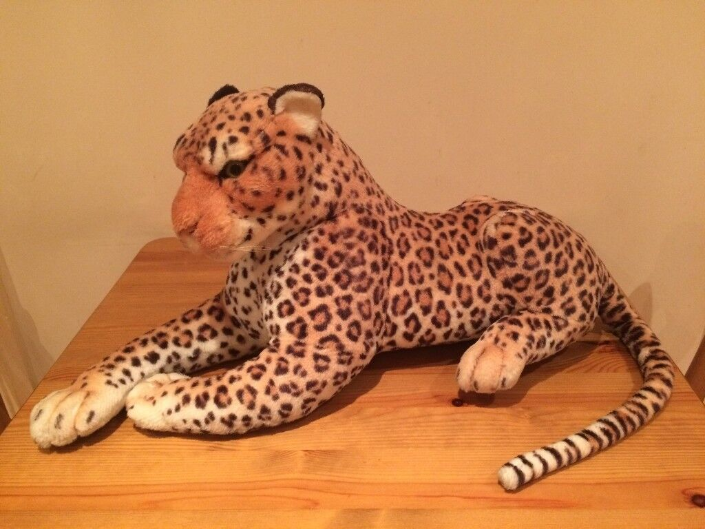 New Large Leopard Cheetah Big Cat Plush Soft Toy Stuffed