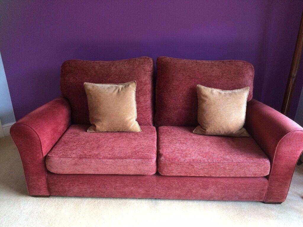 3 seater John Lewis chenille sofa / settee