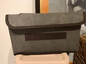 Grey Storage Boxes with A Lid