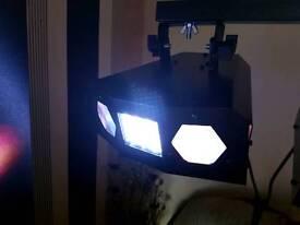 dj tbar and lights . stand strobe led