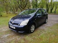 Toyota Corolla Verso 1.6 petrol 2007 (57), 10 months MOT, 1 former keeper, 7 SEATER!!
