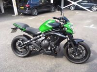 Kawasaki ER6N 650cc Full Carbon Scorpion Exhaust and R&G crash protection