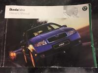 Skoda Fabia owners manual/Book