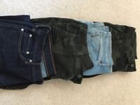Men's size 36 waist x 4 pairs of trousers