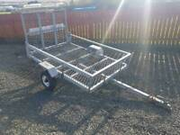 Apache 6x4 trailer ideal for ride on lawn mower quad etc