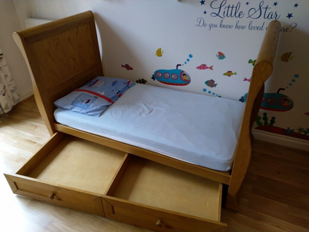 finest selection 41ee9 07b57 Cot bed with free mattress (140x70 cm). Child/baby/toddler bed | in North  London, London | Gumtree