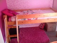 THUKA MID SLEEPER CABIN BED SINGLE MATTRESS INCLUDED, ALSO CAN BE SINGLE BED GREAT CONDITION!!