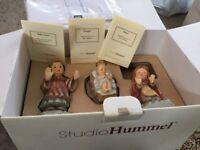BARGAIN! Authentic Hummel figurines boxed . Nativity set plus three kings plus another boy figure