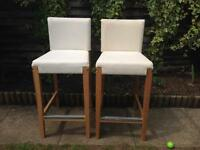Ikea 2 Bar Stools Henriksdal with covers