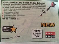 Long reach hedge cutter never used