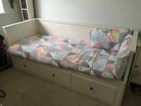 Ikea Hemnes White day bed / double bed / single bed / sofa bed with single mattress