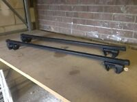 Adjustable Roof Bars for cars with rails