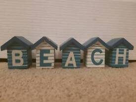 Beach hut ornaments
