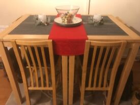 High marble dining table and chairs, need gone ASAP