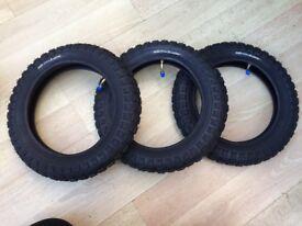 Brand new set of 3 all terrain buggy tyres & inner tubes