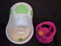Tippitoes Mini Bath + Pink Seat (bundle) Baby Newborn Headrest Support