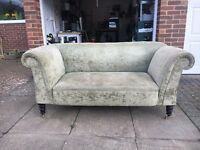 Antique Late Victorian (C.1890) Double Drop Ended Sofa