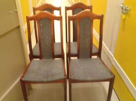 4 dining chairs,mahogany,solid wood,good condition,match my round table